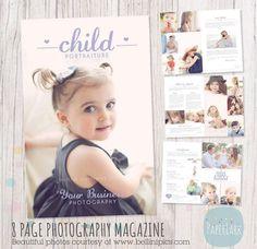 Child Photography Magazine 8 Page Photoshop by PaperLarkDesigns Photoshop Tutorial, Photoshop Overlays, Photoshop Design, Photoshop Actions, Popular Photography, Photography Website, Children Photography, Photography Magazine, Newborn Photography