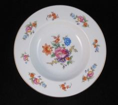 For sale is this lot of (4) Noritake Dresden Style Floral with Gold Trim Rimmed Soup Bowls pattern #N5 made in Occupied Japan circa 1949 - 1950. Such a beautiful pattern with the brightly colored flowers and the bright gold trim at the rim. | eBay!