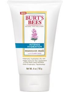 Intense Hydration Treatment Mask- Burt's Bees --- this is incredible stuff. Its good enough to repair overnight a raw nose from a WEEK of nose blowing.  I can't make this stuff up!