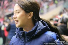 Asian smiles cup in China -2 cr as shown song ji hyo is warming up..
