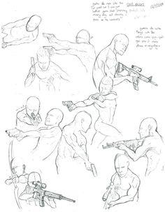 Gun Poses by TheWarden-DrBatman