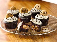Cat Cora's Gluten Free Chocolate Cookie Dough Cupcakes.