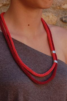 Cotton Yarn Necklace / Collar de Algodón by canijamakes on Etsy