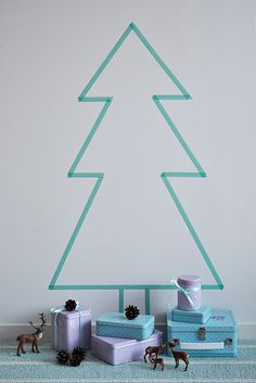 DIY Washi Tape Christmas Tree | Diy washi tape, Washi tape and Washi