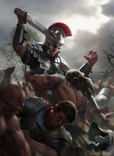 A scene of Romans battling Barbarian Tribes - http://www.inblogg.com/a-scene-of-romans-battling-barbarian-tribes/
