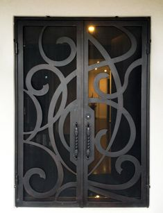 View our wrought large range of wrought iron products. From Wrought Iron Gates to Wrought Iron doors to Wrought Iron balustrades, we've got it all. Or visit our Melbourne showroom today! Balcony Grill Design, Grill Door Design, Front Door Design, Wrought Iron Security Doors, Wrought Iron Doors, House Outside Design, Iron Gates, Diy Door, Entry Doors