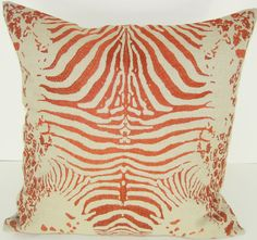 Tiger Linen Throw Pillow