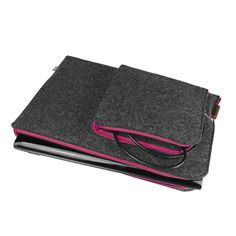 by PurolDesignBags on Etsy #laptopcover #felt #pink #macbook #sleeve