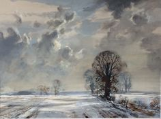 First snow in sunshine by Rowland Hilder Copyright remains with artist's estate Retrospective continues at Dockyard