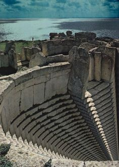 Roman theatre at Alexandria, Egypt - by Marina Molares Remember, this is before power tools!