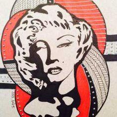 Marilyn Monroe in ink