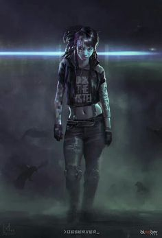 Observer - concept art by Mateusz Lenart Female Character Design, Character Concept, Character Art, Concept Art, Character Aesthetic, Cyberpunk Girl, Cyberpunk 2077, Cyberpunk Tattoo, Cyberpunk Fashion