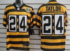 ... Jerseys Discount Nike Pittsburgh Steelers 24 Ike Taylor Yellow With  Black Throwback 80TH Jersey John Stallworth Mens ... ff4ffe3f9