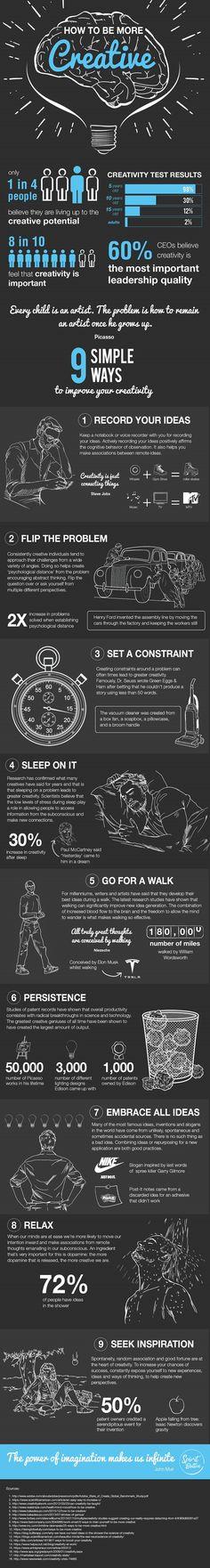 9 maneiras simples de ser mais criativo