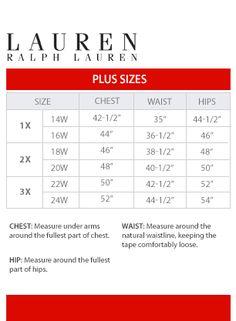 Ralph Lauren Plus Size Chart Via Macys