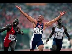 Maurice Greene world record with slow motion Carl Lewis, Usain Bolt, Religion, John Smith, World Records, Track And Field, Olympics, Competition, Athlete