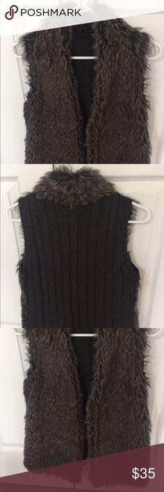 Fur sweater vest Fur vest Jackets & Coats Vests