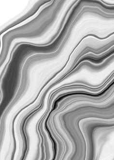 Liquid Gray White Agate 1