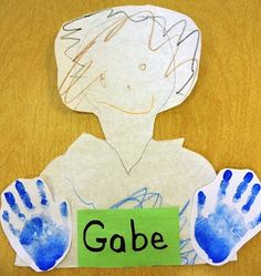 This is a great way to do a self portrait!
