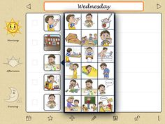 """Niki Agenda - $3.99 app. """"Daily and weekly visual schedules plus a reward chart."""" From Teaching Learners with Multiple Special Needs Blog by Kate Ahern, M.S.Ed."""