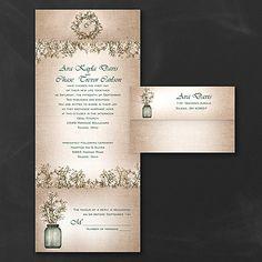Sweet Rustic Seal 'n Send Wedding Invitation 40% OFF   |  http://mediaplus.carlsoncraft.com/Wedding/Seal-n-Sends%E2%84%A2/3254-TWS36219-Sweet-Rustic--Seal-n-Send-Invitation.pro
