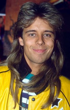 """Pat Sharpe's 80s Mullet  The British radio and TV presenter is well-known for presenting the kid's TV show """"Fun House"""", and for being a Sky channel VJ and also a DJ on Capital FM in London. But we all remember him best for that glorious mullet, which he kept well into the 90's!  See more horrendous mullets!"""