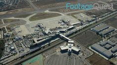 Aerial shot of the Tijuana International Airport which straddles the border of Mexico and the US! Video clip available as rights managed stock footage at footagequest.com. #hd #aerial #footage #AerialFootage #USMexicoBorder #broll #EstablishingShots #video #clips #RightsManaged #VideoClips
