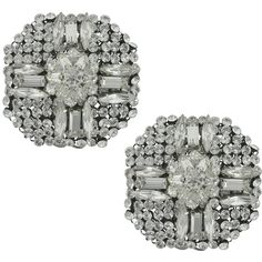 Erickson Beamon Frostbite Earrings ($468) ❤ liked on Polyvore featuring jewelry, earrings, erickson beamon earrings, erickson beamon, swarovski crystal jewelry, earring jewelry and erickson beamon jewelry