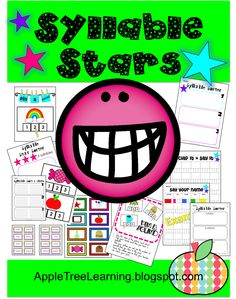 SYLLABLE STARS Kit! There are games, activities, and centers that may be used with your whole group classroom, small group, or individually. The activities would be great for an opening skill / warm up for guided reading.  SYLLABLE STARS is very easily differentiated for your students. There are word cards to read and picture cards for students that are not ready to read yet. The activities are beneficial for teaching syllables, phonics, phonemic awareness and spelling.