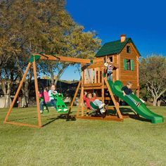 Adventure Play Sets Conqueror Wooden Swing Set