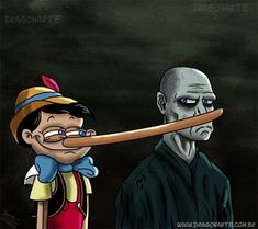 Pinocchio and voldemort Harry Potter Voldemort, Harry Potter Tumblr, Harry Potter Anime, Harry Potter Film, Harry Potter World, Photo Harry Potter, Memes Do Harry Potter, Arte Do Harry Potter, Harry Potter Pictures