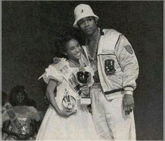 Jada Pinkett as a child and LL Cool J