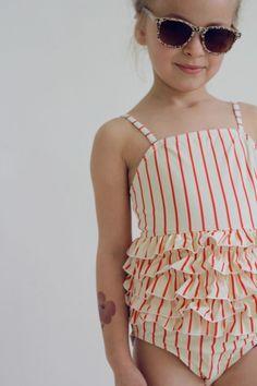 Stripy swimwear