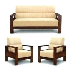 Furniture Design For Hall, Simple Furniture, Sofa Furniture, Living Room Sofa Design, Home Room Design, Sala Set, Wooden Sofa Set Designs, Wood Sofa, Teak Wood