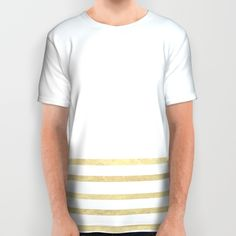 Buy White and Gold Stripes All Over Print Shirt by xiari. Worldwide shipping available at Society6.com. Just one of millions of high quality products available.white, gold, golden, stripes, lines, minimal, minimalism, minimalist, pattern, straight, luxury, glamour, duvet, bed, art print, gold leaf, tapestry, tee, tshirt, t-shirt, fashion, fashionable, fashionista, trend