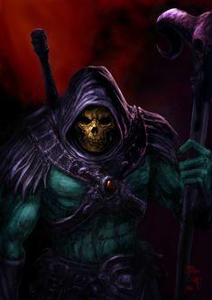 Skeletor # Fan-Art by Patricio Clarey Comic Villains, Comic Book Characters, Comic Character, Comic Books Art, Comic Art, Book Art, Character Design, Cartoon Shows, Cartoon Pics