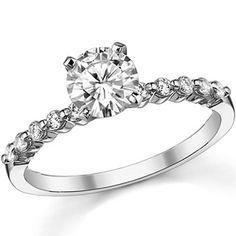Asha Shared Prong Engagement Ring, 0.20ct