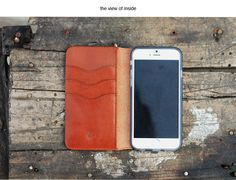 book style leather phone wallet for iphone 6s
