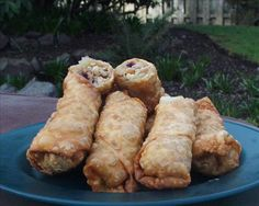 Easy Egg Rolls   Shredded Cabbage Add 1 Tbsp Peanut Butter 1/2 Tsp White Pepper 1/4 Tsp Ground Ginger 1/4 Tsp Chinese Five Spice