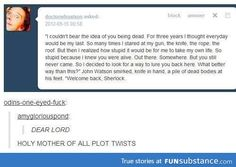 How to freak out the Sherlock fandom in one paragraph