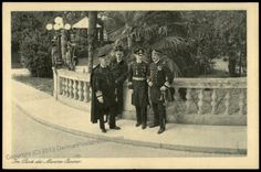 Austrian naval officers outside the casino at Pula