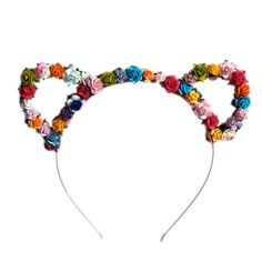 Image of Rachel Floral Kitty Ears - Brights