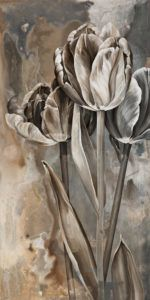 """SOLD """"Silver Polish,"""" by Linda Thompson 12 x 24 – acrylic $770 (thick canvas wrap without frame)"""