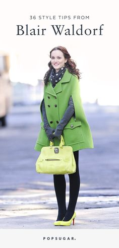 Would Blair Waldorf Do? 37 Style Tips From Queen B - Gossip Girl What Would Blair Waldorf Do? 37 Style Tips From Queen B - Gossip Girl - What Would Blair Waldorf Do? 37 Style Tips From Queen B - Gossip Girl - Gossip Girl Blair, Gossip Girls, Prada Marfa Gossip Girl, Moda Gossip Girl, Estilo Gossip Girl, Blair Waldorf Gossip Girl, Gossip Girl Outfits, Gossip Girl Fashion, Look Fashion