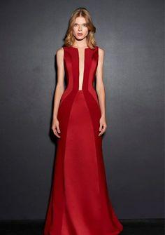 vestido de festa vermelho formatura