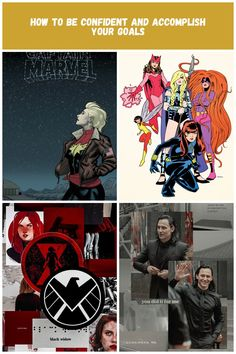 Imagen de aesthetic, article, and feminist marvel comics Aesthetic How to be Confident and Accomplish your Goals Black Widow, Up Hairstyles, Confident, Marvel Comics, Goals, Movie Posters, Movies, Hairdos, Film Poster