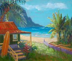 Hanalei Dream - Tropical Hawaiian Artwork: Beach Decor, Coastal Decor, Nautical Decor, Tropical Decor, Luxury Beach Cottage Decor