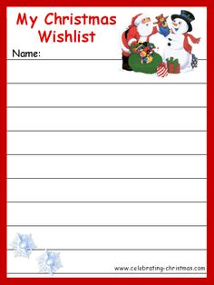 Printable Santa Wish List Magnificent Printable Holiday Wish List  Holidays