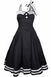50's Sailor inspired dress. CUTE!