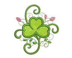 Shamrock Whimsical Applique Embroidery Design Baby Cloth Decor SP005